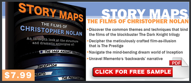 Story Maps The Films of Christopher Nolan Free Sample Ad